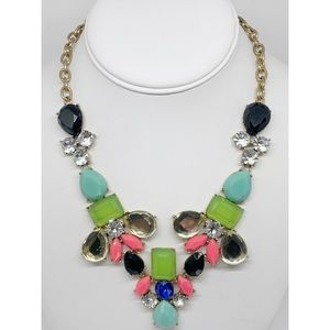 J. Crew Factory Mulit-Color Crystal Necklace NWT
